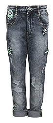 Vitamins Boys' Jeans (01B-623-32-Dx Cloud Wash_Dark Blue_8 - 9 Years)