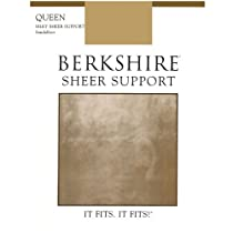 Berkshire Queen Silky Sheer Support Pantyhose - Control Top Sandalfoot 4417