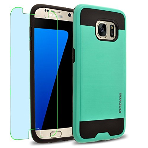 Samsung Galaxy S7 Edge / G935 Case, INNOVAA Elite Hybrid Series Case (Not Compatible with Galaxy S7 & S7 Plus) W/ Free Screen Protector & Touch Screen Stylus Pen - Teal