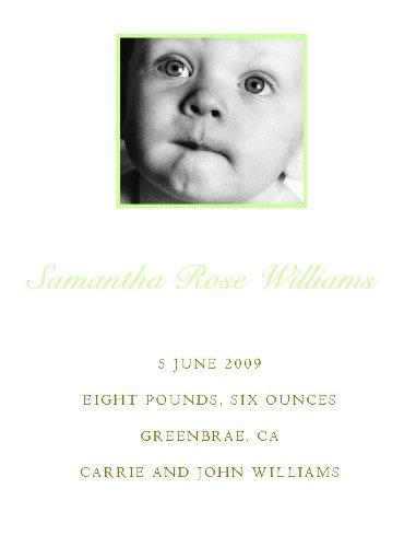 Baby Birth Announcement with Photo