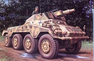 Hasegawa 1:72 - (31154) Sd.kfz 234/3 Panzerspahwagen Stummel - H-MT54