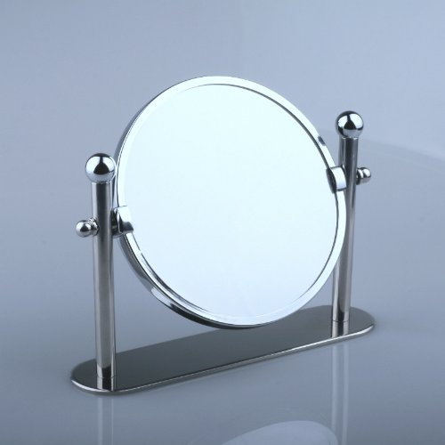 Popular Home Bathroom Chrome Make Up Shaving Cosmetic Magnifying Pillar Table Desk Mirror X Plus Magnification