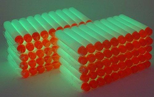 100pcs 7.2cm Souple Fléchettes Fluorescence Recharge Balle pour jouet Nerf