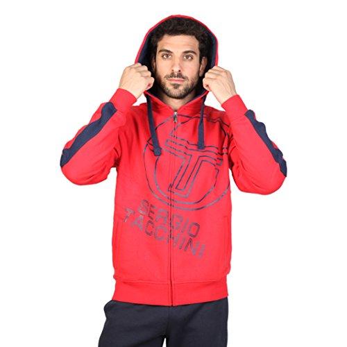 Sergio Tacchini TTG01794, Pullover con Cappellopuccio Uomo, Red (Red_Rosso), Medium