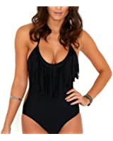 A168® Padded One Piece Fringed Swimsuit Swimwear Monokini