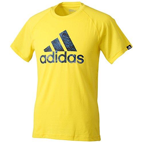 (アディダス)adidas M LOGO グラフィックTシャツ PES ABG06 AA4295 ブライトイエロー J/M