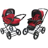 Roan Rocco Classic Pram Stroller 2-in-1 with Bassinet and Seat Unit 6 (Six) Colors - Red