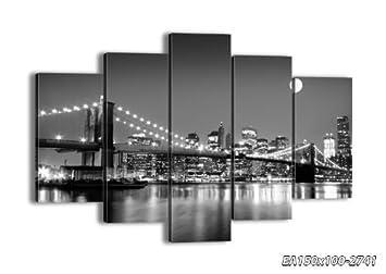 impression sur toile 150x100 cm image sur toile 5 parties encadr e prete a. Black Bedroom Furniture Sets. Home Design Ideas