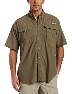 Columbia Men's Bahama II Short Sleeve Fishing Shirt (Sage, Large)