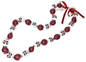 NCAA Mississippi State Bulldogs Go Nuts Kukui Nut Lei Necklace by Style Pasifika