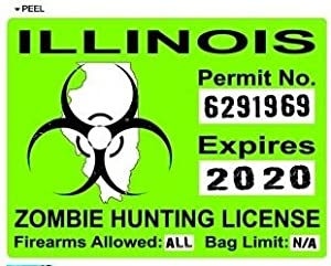 Illinois il zombie hunting license permit for Fishing license illinois