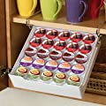 Kamenstein Xtra Drawer 25-Pod Coffee Pod Organizer, White