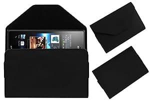 Acm Premium Pouch Case For Sony Xperia Acro S Lt26w Flip Flap Cover Holder Black
