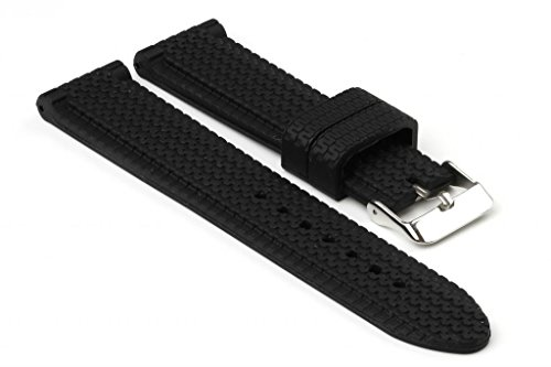 strapsco-black-tire-tread-silicone-watch-band-size-22mm
