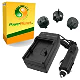 PowerPlanet Panasonic CGA-S004, CGA-S004E, DMW-BCB7 Fast 1-2hr Battery Travel (UK, Europe, USA Mains/Car) Charger for PANASONIC Lumix DMC-FX2, DMC-FX7