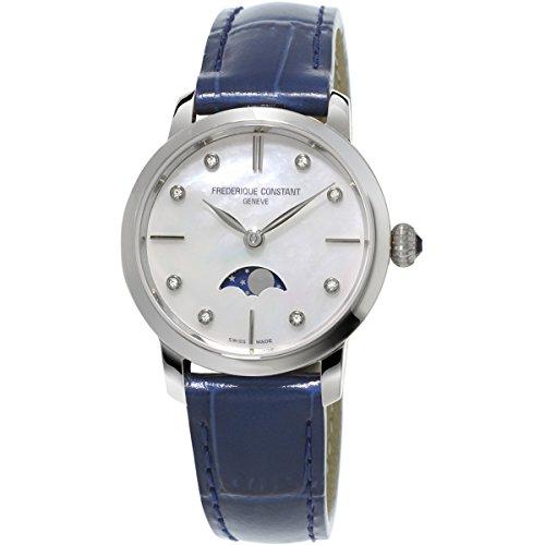 Frederique Constant reloj de pulsera de mujer XS analógico de cuarzo, de piel FC-206MPWD1S6