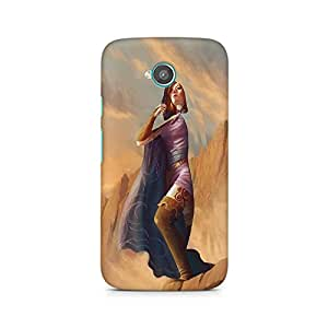 Mobicture Girl Art Premium Printed Case For Moto E2