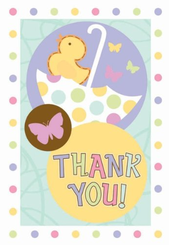 Tiny Bundle Baby Shower Thank You Notes 8Ct front-1012856