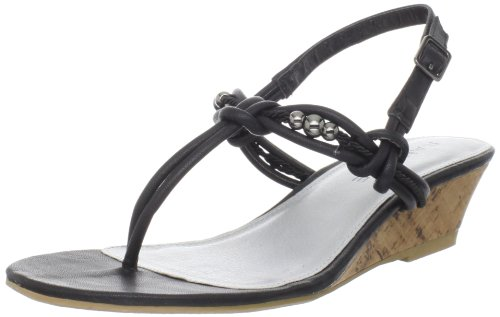 Sugar Women'S Cairo Wedge Sandal,Black,8.5 M Us front-40198