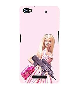 EPICCASE Armed Barbie Doll Mobile Back Case Cover For Micromax Canvas Hue 2 A316 (Designer Case)