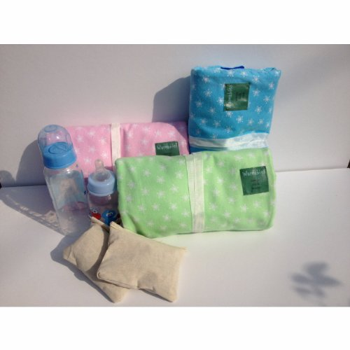 Cherry-Pit Baby Bottle Warmer (Baby Green) - Heat Cherry-Pit Bags & Milk, Pop Into Pouch & Roll!