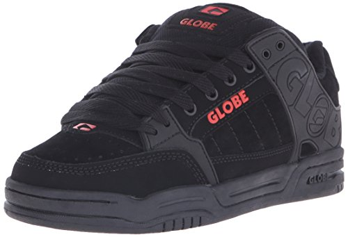 Globe Men's Tilt Skateboard Shoe,Black/Grey/White TPR,9.5 M US