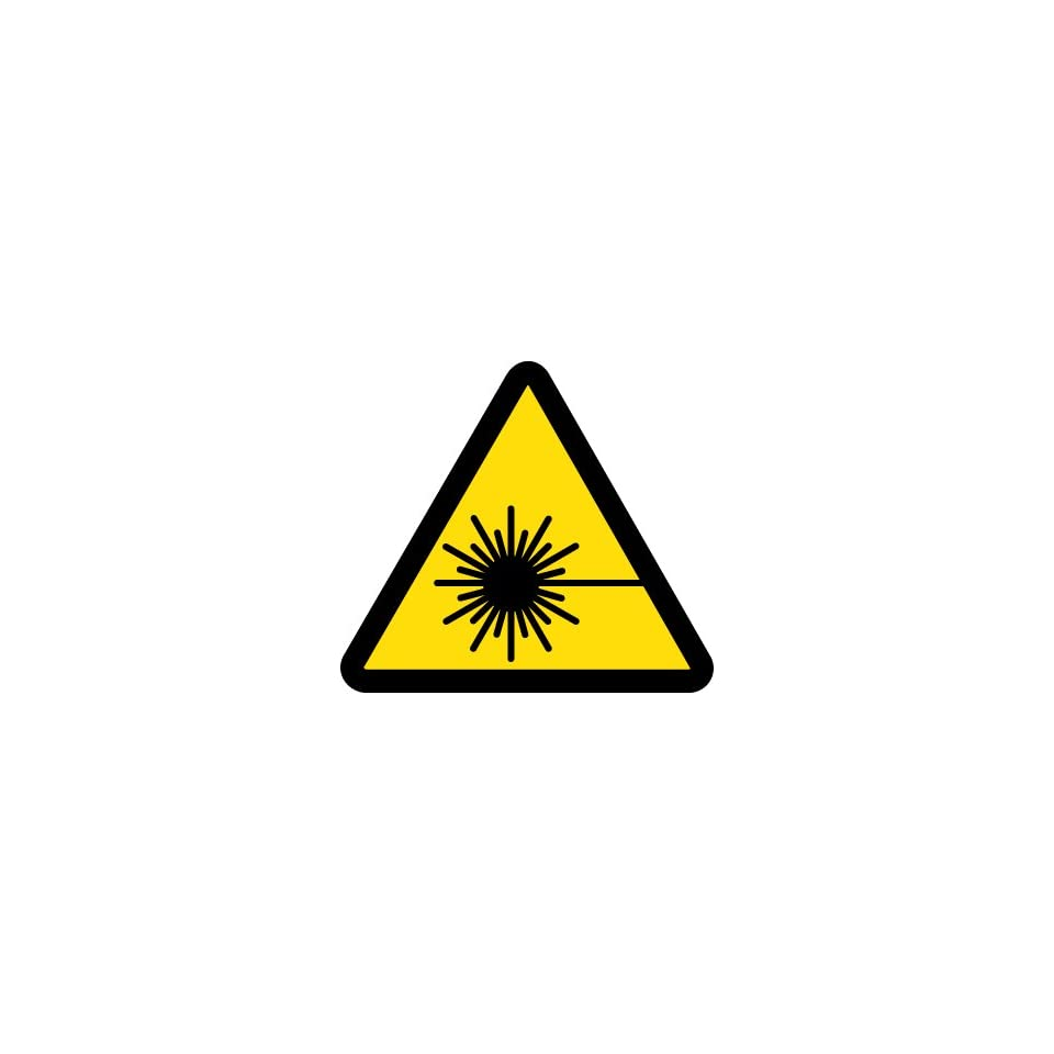Label, Graphic For Laser Hazard, 2 In Dia, Adhesive Vinyl