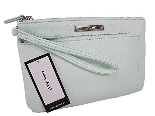 New Nine West Purse Wristlet Hand Bag Pistachio Mint Green Clutch