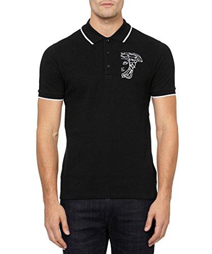 Versace collection pure cotton polo logo shirt reviews for Amazon logo polo shirts