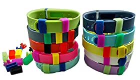 MDW Silicon Fastener Ring for Fitbit Flex Wristband - Fix the Clasp Fall Off Problem - Secure the Wristband in Style- A Must Have for Fitbit Flex (Mixed Color of 5 Clasp and 7 Fastener)