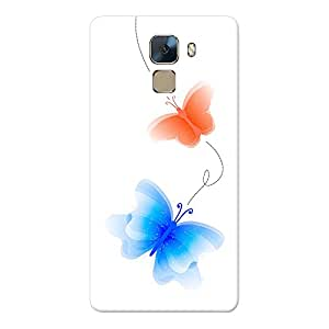 INKIF Cute Butterflies Abstract Designer Case Printed Mobile Back Cover for Huawei Honor 7(Multicolor)
