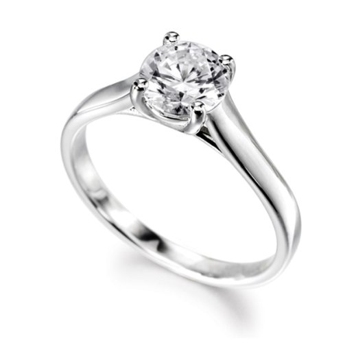 18ct White Gold 0.30 HSI Diamond Engagement Ring Solitaire - Sizes H to Q
