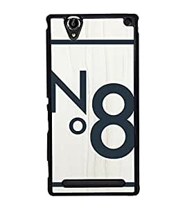 No. 8 2D Hard Polycarbonate Designer Back Case Cover for Sony Xperia T2 Ultra :: Sony Xperia T2 Ultra Dual SIM D5322 :: Sony Xperia T2 Ultra XM50h