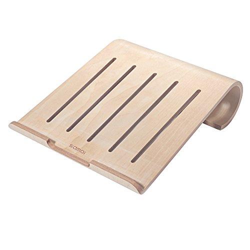 SAMDI(サムディ) 木製 モニター台 机上台 スタンド キーボード収納 MacBook Air/Pro Retina iPad Pro タブレットノート PC ノートブック対応(カバノキ製)