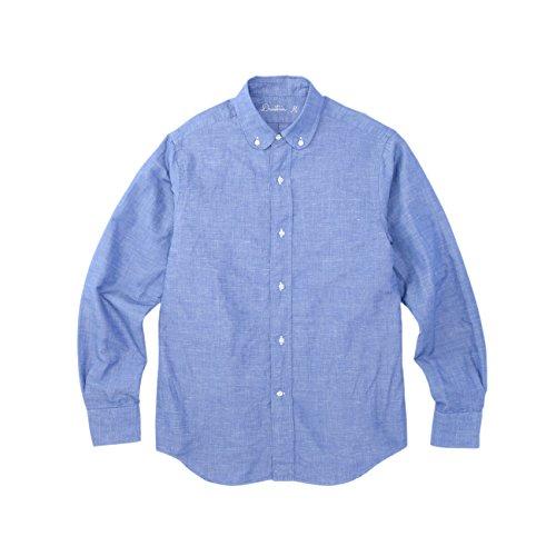 (ドレステリア)DRESSTERIOR コットンリネンハケメボタンダウンシャツ ブルー(092) 92(L)