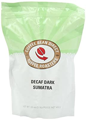 Coffee Bean Direct Decaf Dark Whole Bean Coffee, 16 Ounce (Pack of 3)