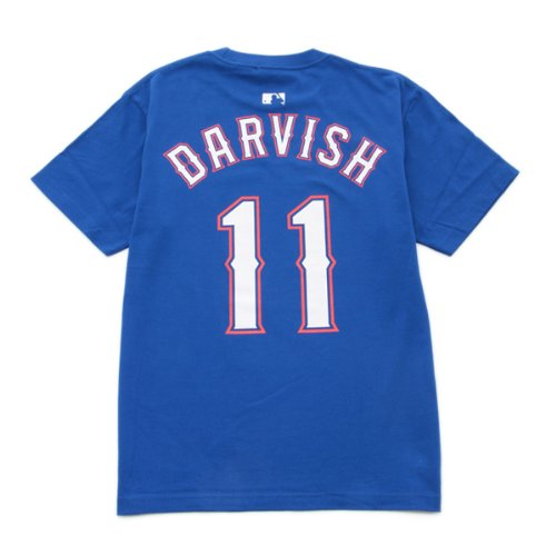 ネーム&ナンバーTシャツ-テキサス レンジャーズ  DARVISH -11 ダルビッシュ (XXL, ブルー)