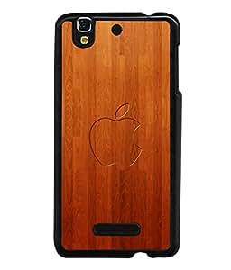 printtech Wooden Apple Back Case Cover for YU Yureka Plus