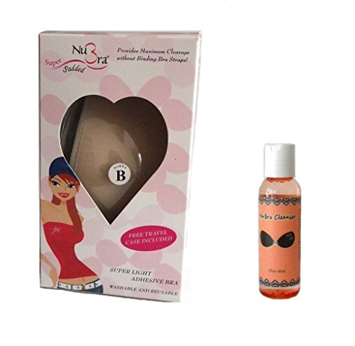 NuBra Super Padded Adhesive Bra (S900) and Cleanser (N112), Nude, Cup B (Super Padded Bra compare prices)