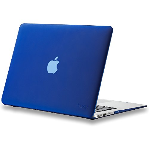 New Kuzy - AIR 13-inch NAVY BLUE Rubberized Hard Case for MacBook Air 13.3 (A1466 & A1369) (NEWEST ...