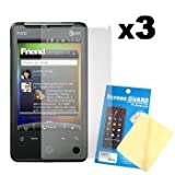 Three LCD Screen Guards / Protectors for HTC A6366 Aria