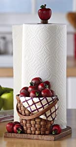 Collections Etc Red Apple Kitchen Paper Towel Holder