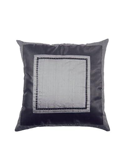 Bandhini Homewear Design Steele Square Throw Pillow, Gunmetal Grey