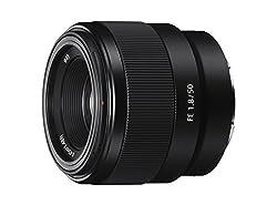Sony SEL50F18F E-mount FE 50mm F1.8 Standard Prime Lens (Black)