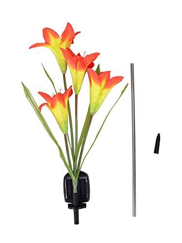 Led Solar Lamp Outdoor Led Light Lily Flower For Garden Yard D¨¦Cor