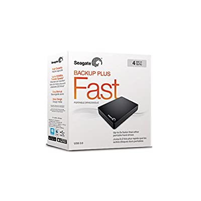 Seagate Backup Plus Fast STDA4000300 4TB Portable Hard Drive (Black)
