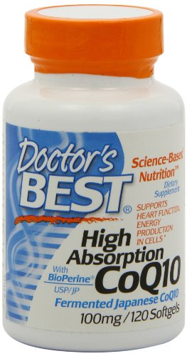 Doctors Best High Absorption Coq10 w/ BioPerine (100 mg), 120 Soft gels