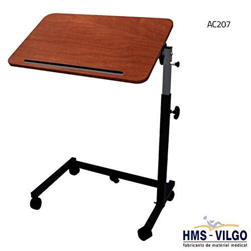 Franzsisch-gemacht-ber-Bett-Stuhl-Tisch-Modell-ac207-ac207-Rahmen-Schwarz-Dunkel-Buche-Tischplatte