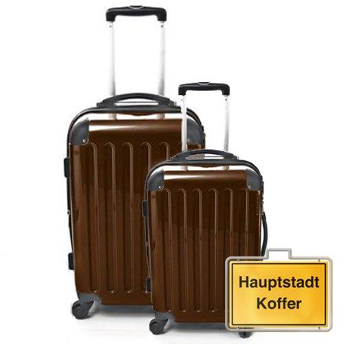 HAUPTSTADTKOFFER 2er Set Mocca Braun (87Liter/130Liter)