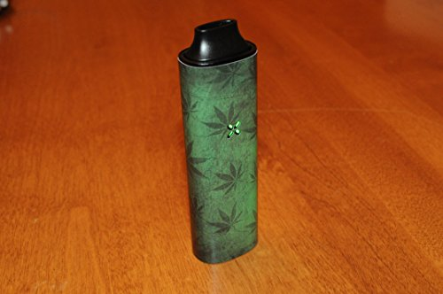 Green-Weed-Leaves-decal-for-PAX-1-vaporizers-glossy-vinyl-sticker